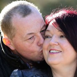 Picture Of How stroke victim Julie found love was stronger than words