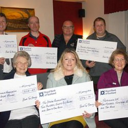 Picture Of Six charities share a serving of a brewery and £1,800 fundraising