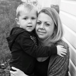 Picture Of Mum`s heroic skydive for charity helping her son