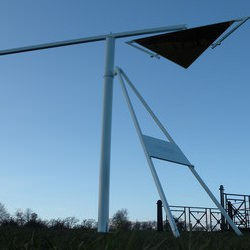 Picture Of Contemporary art installation erected at Cambridgeshire estate