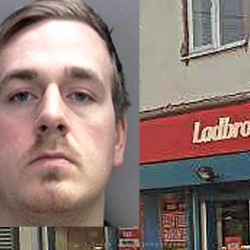Picture Of Bungling thief accidentally set fire to and £1,000 stolen from Wolverhampton bookies